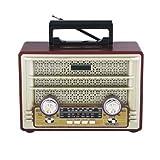 Radio Clasica Altavoz Bluetooth PBP-117 - MP3 SD AUX - Luz Estilo Vintage Madera