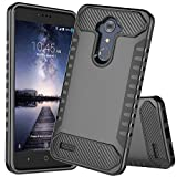 ZTE ZMax Pro Case, ZTE Carry Z981 Case, JDBRUIAN Heavy Duty Defender Shock Absorption Impact Resistant Protection Hybrid Case Cover for ZTE ZMax Pro/Carry Z981[Black]