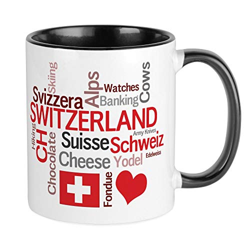 CafePress - Schweiz - Favorite Swiss Things Tasse - Einzigartige Kaffeetasse, Kaffeetasse, Teetasse