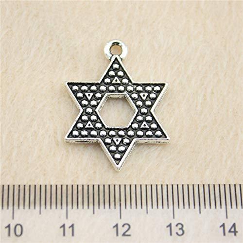 LKJHG Colgantes de Amuleto de Estrella 1 Uds para Accesorios de joyería de Pulsera
