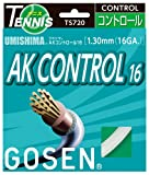 ゴーセン(GOSEN) ウミシマ AKコントロール16 (テニス用) ホワイト TS720W