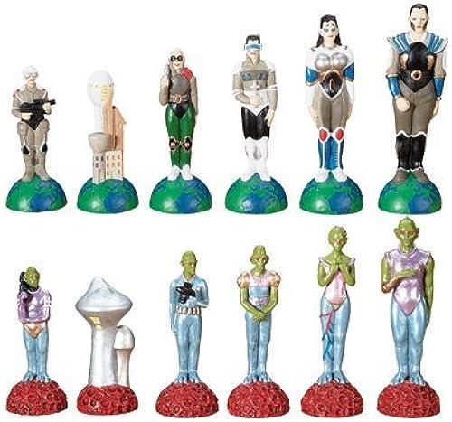 Para tu estilo de juego a los precios más baratos. Summit Chess Set - Alien Alien Alien Vs. Human - Collectible Boardgame Pieces Game  tienda hace compras y ventas