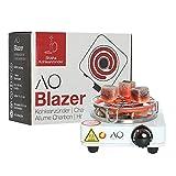AO Blazer Hornillo Cachimba 500 W| Encendedor Eléctrico Narguile| con Rejilla Carbón