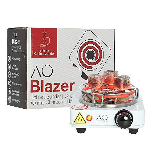 AO Blazer Shisha Kohleanzünder 500W | Elektrischer Kohlenanzünder für Shisha Kohle | inkl. Kohlegitter