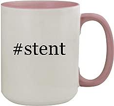 #stent - 15oz Hashtag Colored Inner & Handle Ceramic Coffee Mug, Pink