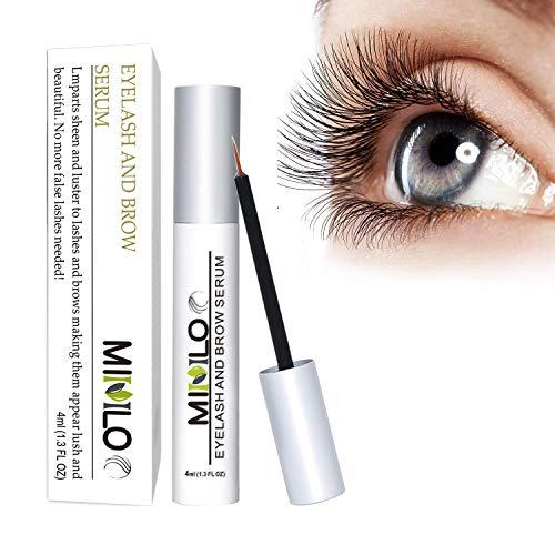 Greatlizard Wimpernserum & Augenbrauen Serum, 4ml Wimpernbooster | Lash Verlängerung Ohne Hormone, für Wimpernwachstum und Augenbrauenwachstum | Lange, Dichte 3D Wimpern und Augenbrauen