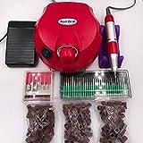 MIAOGOU Pulidor de uñas Pro Electric Nail Art Drill File bits Machine Manicure Kit Professional Salon Home Nail Tools Set
