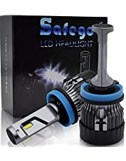 H4 H11 9005 HB3 LED 車用 ヘッドライト 電球 キット - Safego 30W 5000ルーメン Hi/Lo 高輝度 LED チップ搭載 LEDバルブ 変換 キット 12v 置き換 車 ハロゲン ライト HID 電球