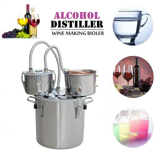 ECO-WORTHY 5 Gallon 20 L Alcohol Distiller 304 Stainless steel Home Moonshine Water Distiller Wine Making Kit Home Brewing Kit with Thumper Keg