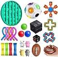 Sensory Fidget Toys,23/24pcs Juego de Juguetes sensoriales Fidget Toys para niños y Adultos Alivia el estrés y la ansiedad Surtido de Juguetes Especiales para niños y Adultos,24pcs de fidget toy