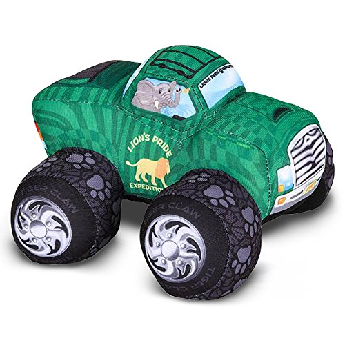 ArtCreativity Plush Monster Truck Safari Design - 8 Inch Big Stuffed Monster Truck - Cool Animal-Themed Design - Soft and Cuddly Toys for Little Boys, Girls, Baby, Toddlers - Great Gift Idea