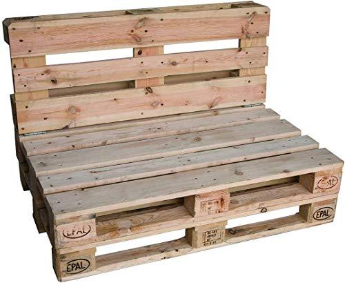 clc Divano divanetto 2 posti in Pallet EPAL per Interno, Interni -Made in Italy- Legno, 120x80x78