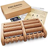 HELDSON® Premium Fußmassageroller Holz inkl. deutscher Anleitung und Karte für...