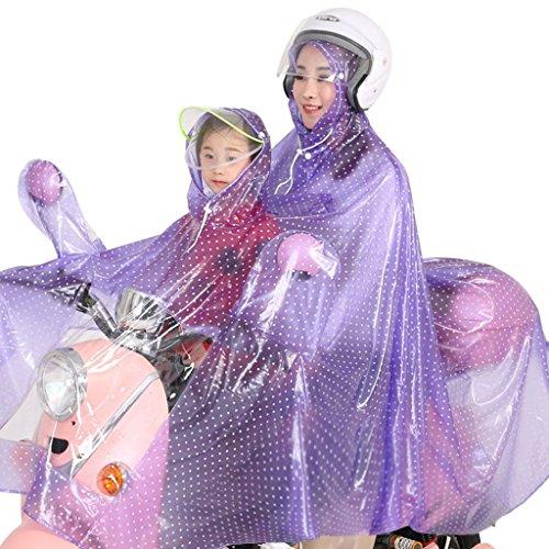 IAIZI - Raincoat Manteau de pluie double pour vélo électrique de voiture pour adulte - Poncho épais et épais - Batterie de moto - Couleur : F, taille : XXXL