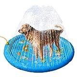 mysticall 96CM Splash Pad Sprinkler für Kinder, Kleinkinder und Hunde, Kiddie Baby Pool, Spiele für Wasserspiele im Freien, 1-12 Jahre alte Mädchen Jungen