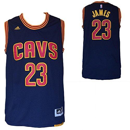 NBA Replica Maglia Canotta Lebron James - Cleveland Cavaliers - Blu-Taglia L