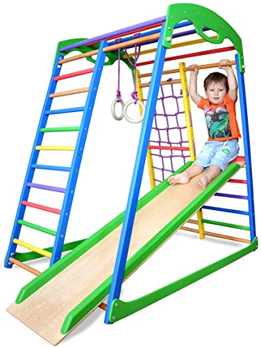 Learn More About Indoor Playground Toddler Climber Slide – Kids Jungle Gym Playset – Activity To...