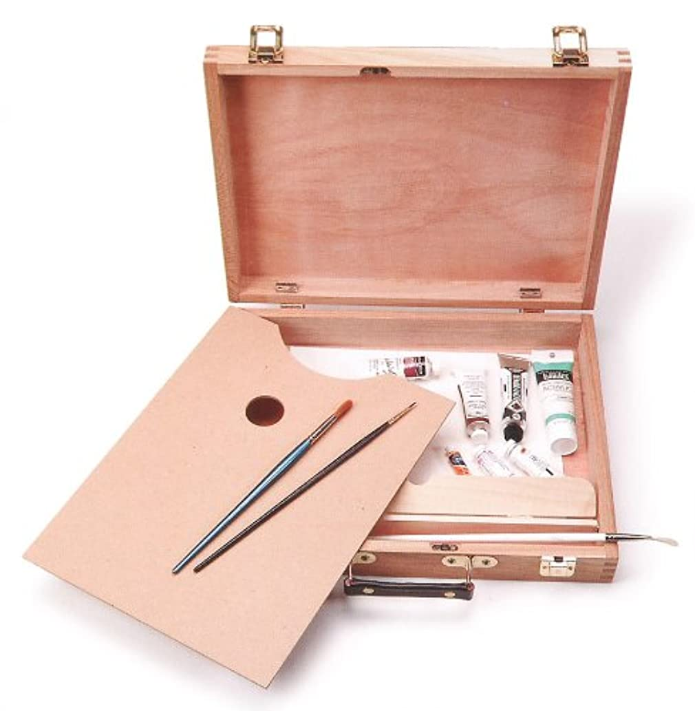 Darice 12-3/4-Inch-by-9-1/2-Inch Sketch Box with Palette