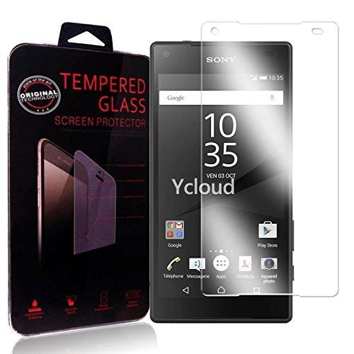 Ycloud Protector de Pantalla para Sony Xperia Z5 Compact (4.6Pulgada) Cristal Vidrio...