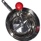 Passaverdure passapomodoro passatutto Manuale con 3 filtri intercambiabili per casa Cucina in Acciaio Inox con Piedi-Diametro 24 cm