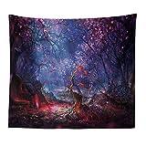 jtxqe Starry Sky Fantasy Scenery Salón Dormitorio Tapiz Decoración para el hogar Estera de Playa 8 150 * 130