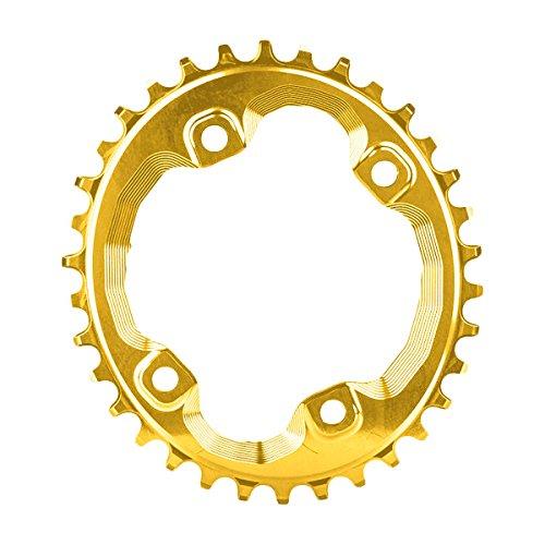 Absolute schwarz oval 96BCD XT N/W Fahrrad Kettenblatt–Gold, gold