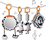 Baby Hanging Toys Gift Set Mirror Black and White...