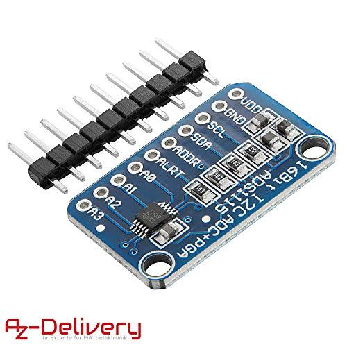 AZDelivery ADS1115 ADC Modul 16bit 4 Kanäle für Arduino und Raspberry Pi mit eBook