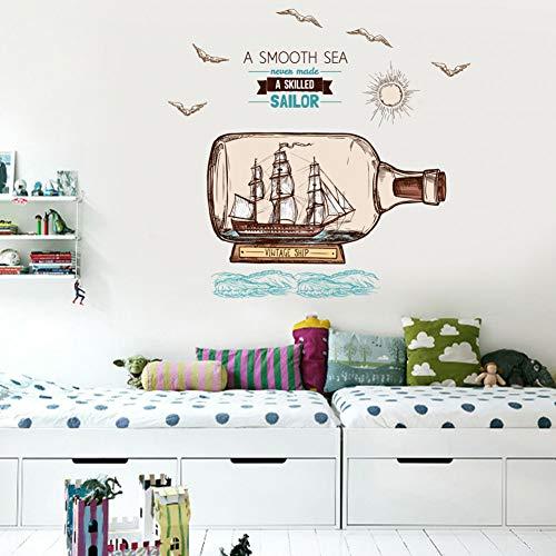 Sex Mode dekorative Wandaufkleber PVC selbstklebende Drift Flasche Wohnzimmer Schlafzimmer Hintergrund Wandaufkleber