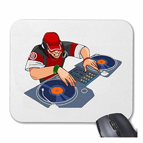 Reifen-Markt Mousepad (Mauspad) DJ MISCHPULT Plattenspieler Disco Techno Jazz Funky Soul Trance Festival House Hiphop HIP HOP DJ für ihren Laptop, Notebook oder Internet PC (mit Windows Linux usw.) i