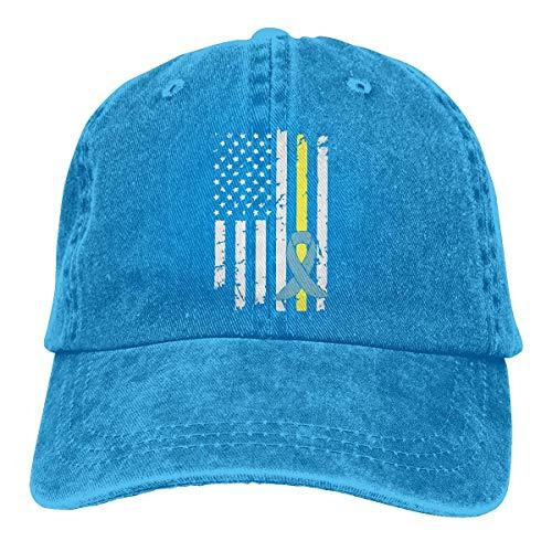 NE Baseballkappe für Herren und Damen, Daunen-Syndrom, Awareness-Flagge, Unisex, Baumwolle, verstellbar