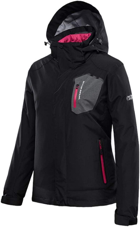 Jiuyizhe Women's Winter Jacket Waterproof Windproof Mountain Outwear Hooded Ski Jackets