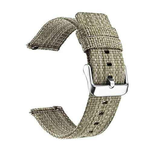 okkpbg Correa de nailon para hombre, 18 mm, 20 mm, 22 mm, para Samsung Galaxy Watch de 46 mm, 42 mm, para Gear S3 S2, correa de reloj deportivo, repuesto para Amazfit Bip casual y hermosa