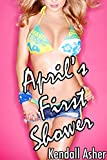 April's First Shower (Older Man Younger Woman First Time Romance)