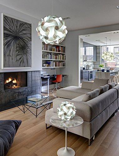 Bellissimo lampadario d'arredo moderno sala salone soggiorno living Palla 50 cm di design Sospensione da soffitto elegante e luminosa led Open space Illuminazione moderna