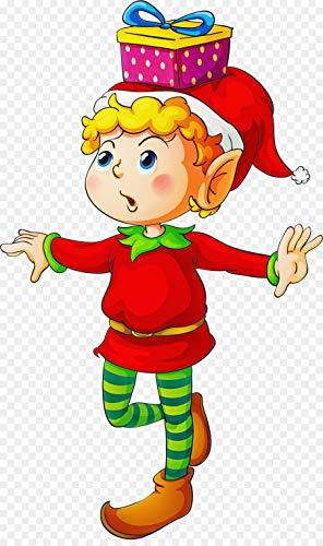 Aaubsk Puzzle 1000 Piezas Elf Clip Art Christmas Series 21 Art Gifts Puzzle 1000 Piezas Adultos Juego de Habilidad para Toda la Familia, Colorido Juego de ubicación.50x75cm(20x30inch)