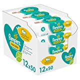 Baby Wipes Multipack, New Baby Sensitive, 600 Count (12 x 50), Baby Essentials for Newborn Pampers Baby Wipes - B00MMT43PU