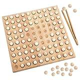 Colcolo Clip de Madera Beads Juego Aprendizaje Interactivo de Desarrollo Matemáticas Montessori Juguete Puzzle Juguete para Adultos Niños Niños Niños 4-6 años