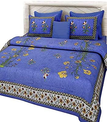 Tanna's Collection Bed Sheet with Pillow Covers (Blue)