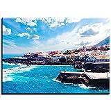 CELLYONE MEEKIS Tenerife Island Town DIY Adulto Preimpreso Lienzo Pintura al óleo Tienda Hotel Familia decoración Especial 40x50cm