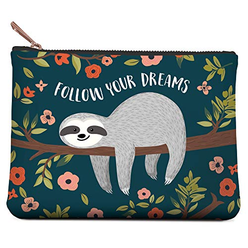 Small Zippered Pouch by Studio Oh! - Follow Your Dreams Sloth - 4.5
