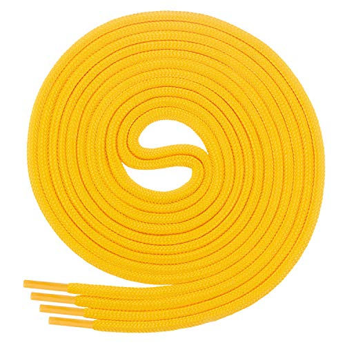 Di Ficchiano Schnürsenkel, Rundsenkel für Business- und Lederschuhe, reißfester Allroundsenkel, ø 3mm Farbe gelb Länge 60cm