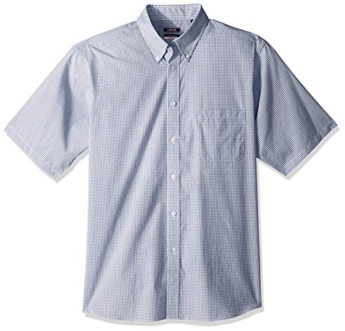 BUTTONED DOWN Men's Classic Fit Stretch Twill Non-Iron Dress Shirt, White, 17