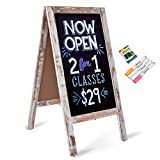 Board2by Heavy Duty A-Frame Magnetic Chalkboard Sign- 40' X 20' Large Folding Sandwich Board Standing Sidewalk Sign, Freestanding Chalk Board Easel for Restaurant, Business or Wedding, Classic White