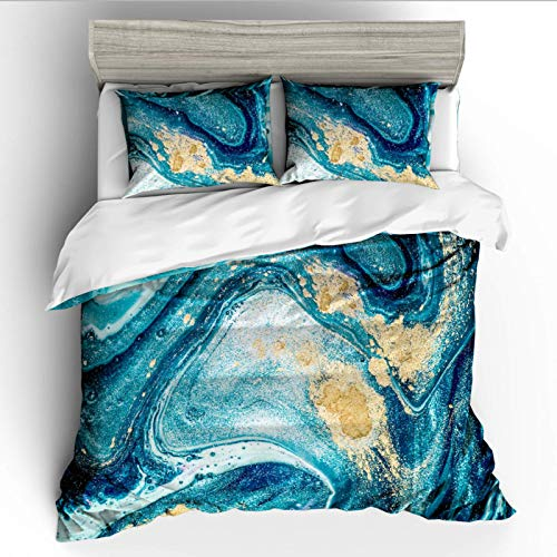 Duvet cover and pillowcase bedding quilt cover single double room king size bed-starry blue