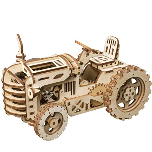 ROKR Mechanical Models,3-D Assembly Wooden Puzzle,DIY Assembly Toy,Mechanical Gears Constructor Engineering Kits,Brain Teaser,Best Gifts for Adults & Teens