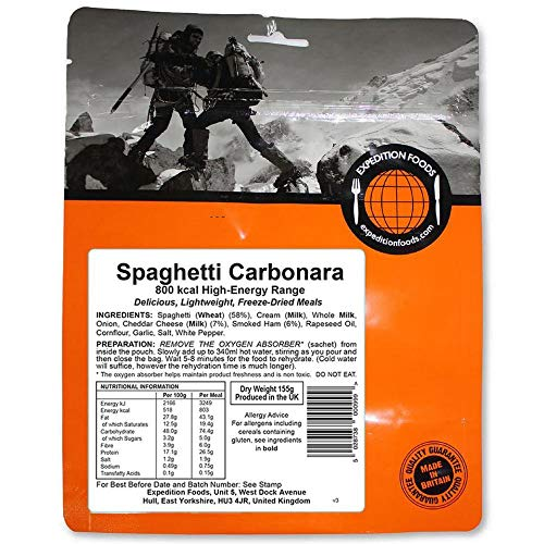 Expedition Foods High Energy Serving Pasta Carbonara -