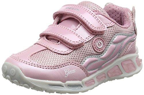 Geox Mädchen J Shuttle  Low-top C Sneaker, Pink (Pink/Silver), 36 EU