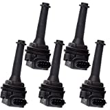 cciyu 5Pcs New Ignition Coils UF341 C1258 Replacement fit for Volvo C70 S60 S70 S80 V70 XC70 XC90