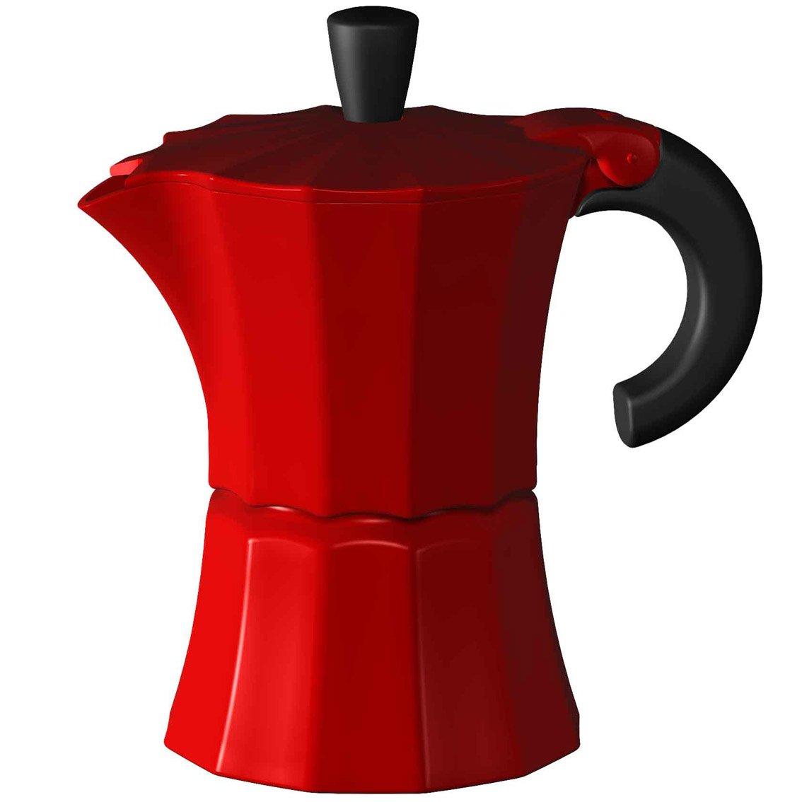 Gnali and Zani Morosina - Cafetera Italiana, 6 Tazas, Color Rojo: Amazon.es: Hogar
